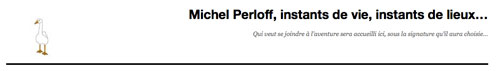 Le blog de Michel Perloff